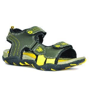 SDZ 102 Mens Mehndi & Yellow Sandals