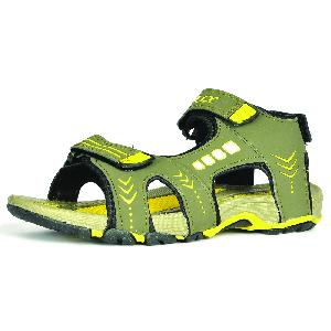 Sdz-106 Mens Mouse & Yellow Sandals