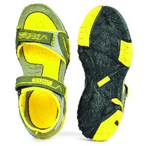 SDZ 110 Mens Mehndi & Yellow Sandals