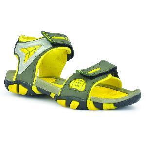 SDZ 112 Mens Mehndi & Yellow Sandals