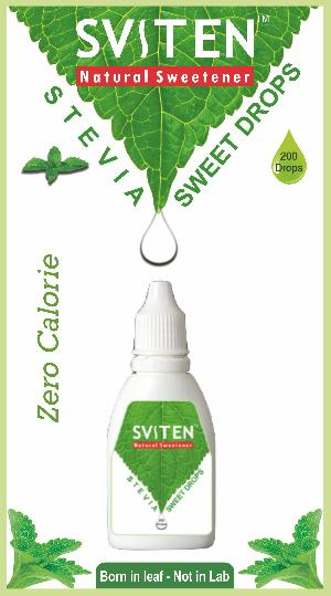 Sviten Stevia Natural sweetener liquid