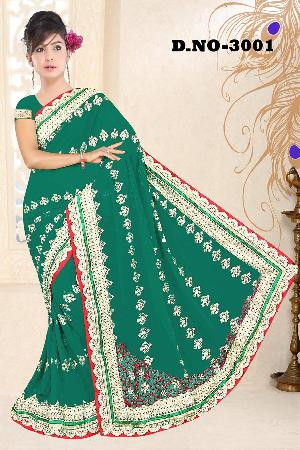 Aarya Ethnics Georgette Embroidered Sarees_DN-3001-D