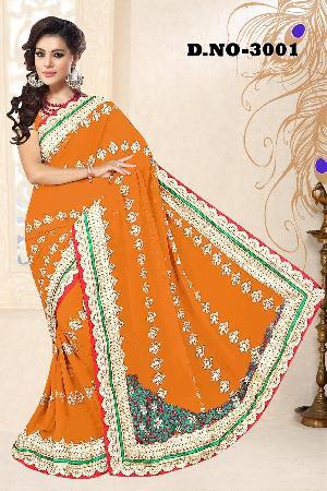 Aarya Ethnics Net Embroidered Sarees_DN-3001-A