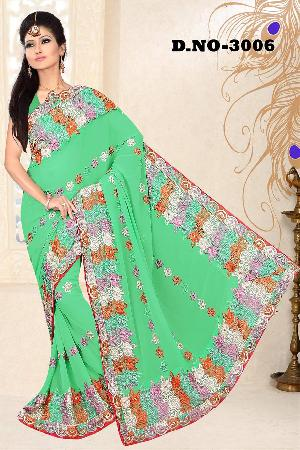 Aarya Ethnics Embroidered Georgette Saree_DN-3006-B