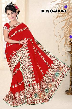 Aarya Ethnics Georgette Embroidered Sarees_DN-3003-D