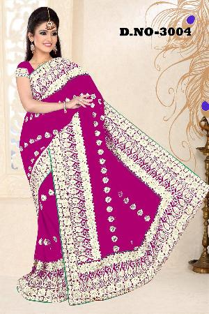 Aarya Ethnics Embroidered Georgette Net Saree_dn-3002-c