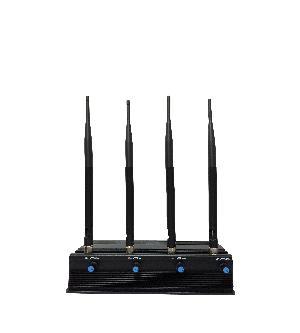 3G GSM CDMA Mobile Cellular Phone Jammer 4 Antenna - Black