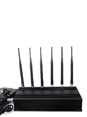 6 Antenna CDMA Cell phone Mobile WiFi RF Signal Jammer