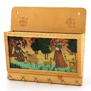 Little India Gemstone Painting Key Magazine Holder Gift