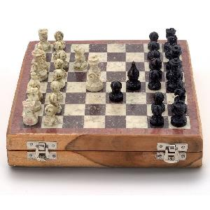 Little India Real Makrana Marble Chess Board Handicraft