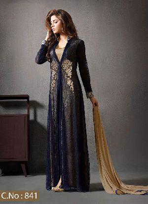Designer Blue Embroidery Salwar Suit
