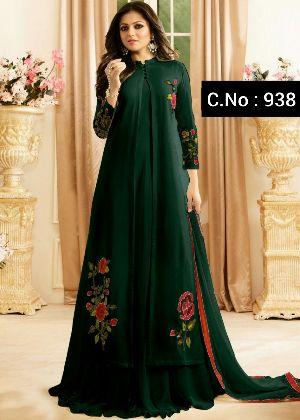 Designer Green Anarkali Salwar Suit