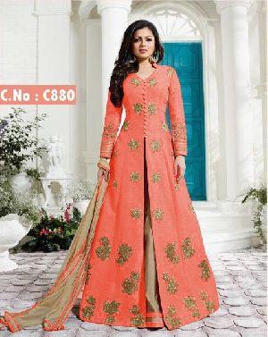 Orange Indowestern Dress