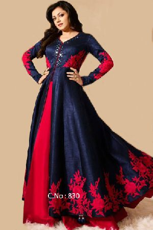 Designer Red Embroidery Salwar Suit