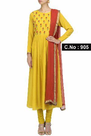 Designer Yellow Anarkali Salwar Suit