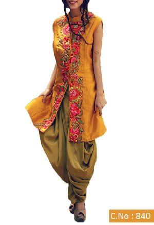 Designer Yellow Patiyala Embroidery Salwar Suit