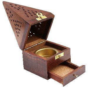 Wooden Incense Box Fragrance Stand
