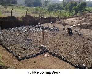 Rubble Soling Work