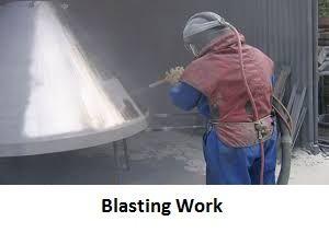 Shut Blasting Work