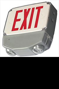Wet Location LED Exit Combo Sign