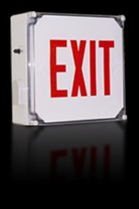 Wet Location Rated LED Exit Sign