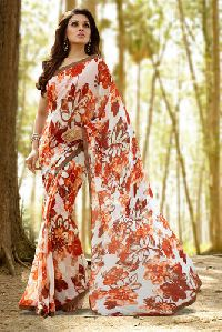 Shaily Dazzling Multi Color Georgette Saree