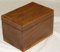 Walnut Recipe Card Box