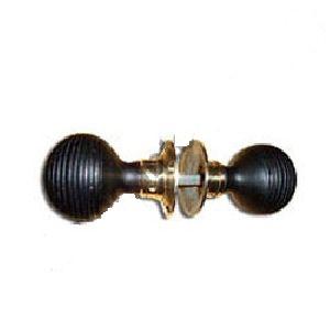 wooden beehive door knob