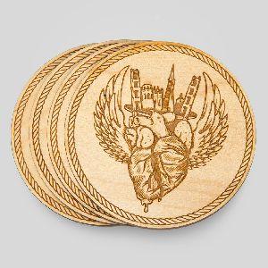 Wooden Tea Coaster 14