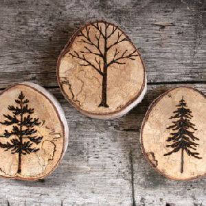 Wooden Tea Coaster 15