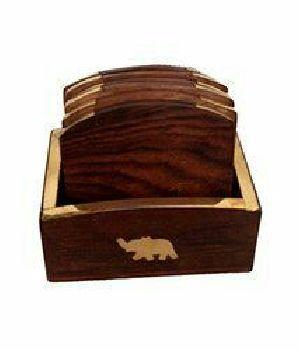 Wooden Tea Coaster 17