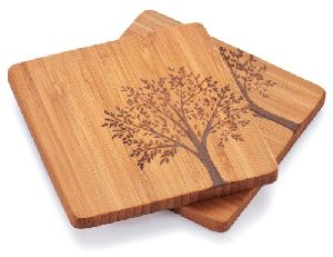 Wooden Tea Coaster 19