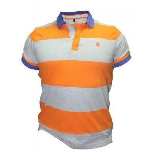 Mens Striped Polo T- Shirts