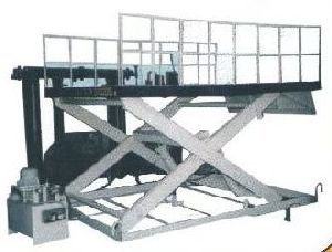 Hydraulic Scissor Lifting Table With Platform Railing