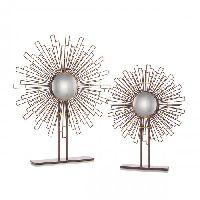 2 Geometry Sunburst Mirrors
