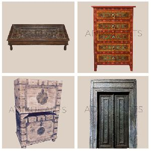 Indian Wooden Antique Furniture Handicraft