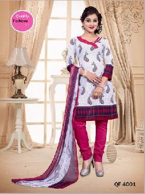 Unstitched 5 Star Synthetic Churidar Suit
