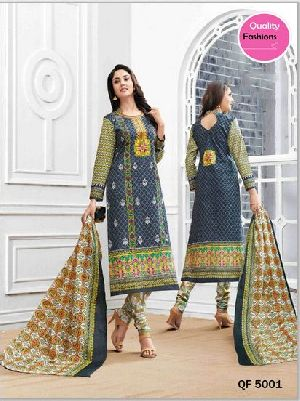 Unstitched Angel Cotton Churidar Suit