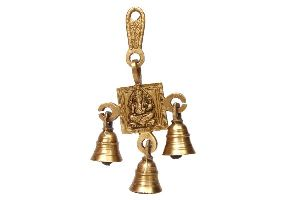 Brass Ganesha Wall Hanging With Bells