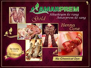 AMARPREM GOLD - JUMBO HENNA CONE