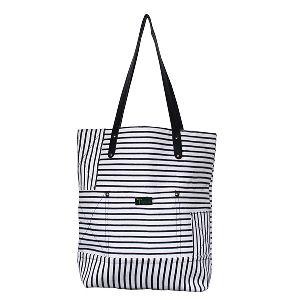 Black & White Stripe Bag