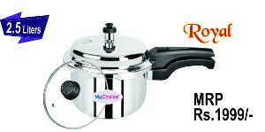 2.5 Liter Royal Stainless Steel Pressure Cooker