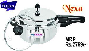 5 Liter Nexa Stainless Steel Pressure Cooker