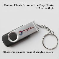 Swivel Flash Drive Usb With Keychain