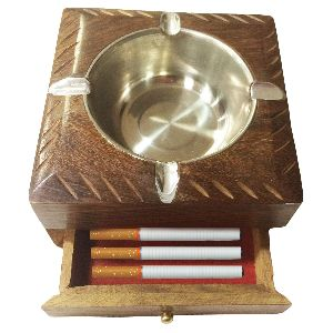 Affaires Wooden Ashtray