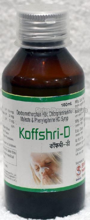 Dextromethorphan cough syrup