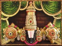 3D Imposing Head Balaji Tanjore Painting