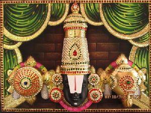 3d Imposing Head Balaji Tanjore Paintings