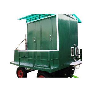 Two Seater FRP Eco Friendly Mobile Toilet Van