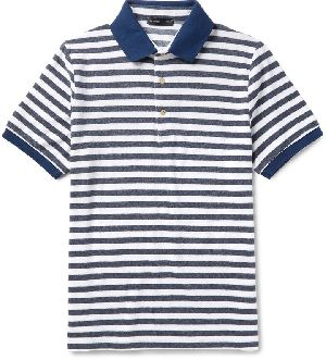 Dyed Yarn Mens Polo T-shirts